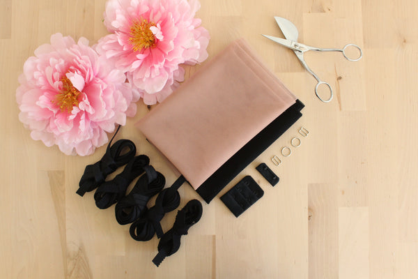 DIY Underwire Bra Kit Dusty Mauve Bra Tulle