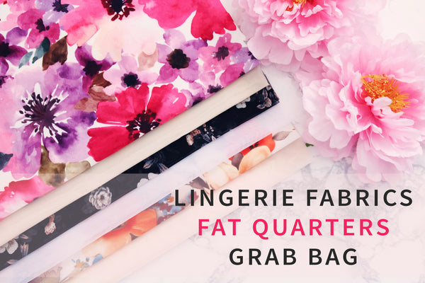 Lingerie Fabrics Fat Quarters Grab Bag Bundle - Perfect for Lingerie Making