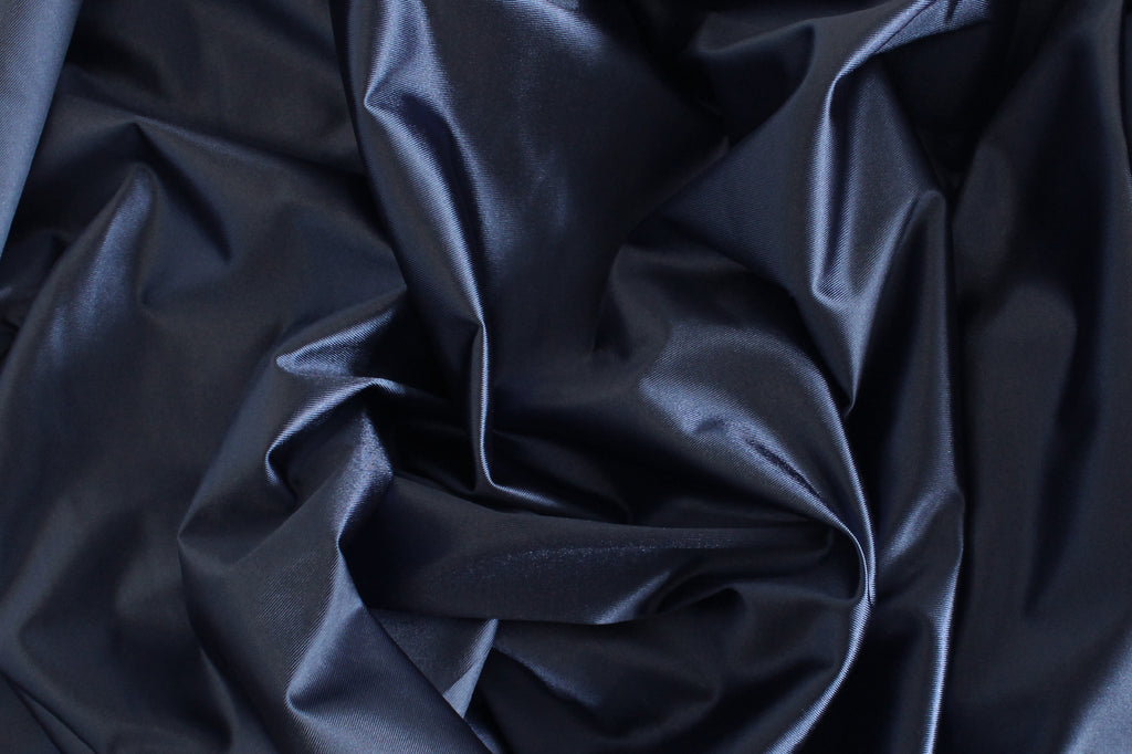 1/2 YD Gunmetal Blue Shiny Lingerie Satin Bra Making Cups & Frame Fabric - LIMITED EDITION!