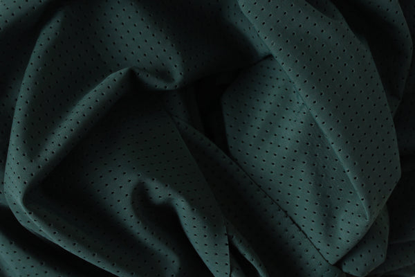 1/2 YD Off-Hunter Green Athletic Mesh Activewear Nylon Spandex Fabric