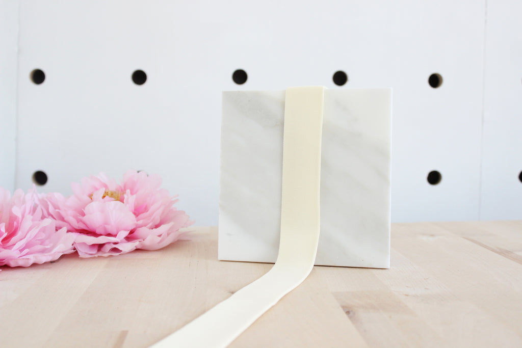 "1 3/8"" (35mm) Ivory Plush Wide Elastic - Perfect for Bralette or Bra Bands or Underwear Waistbands! - NEW ELASTIC QUALITY!"