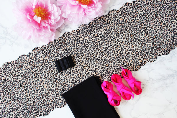 DIY Soft Bra Kit Leopard Print Black Neon Pink