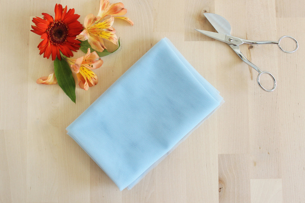 DIY Underwire Bra Kit Light Blue Bra Tulle