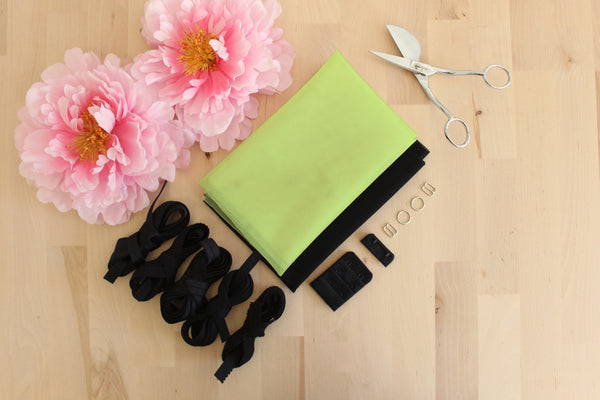 DIY Underwire Bra Kit Lime Bra Tulle