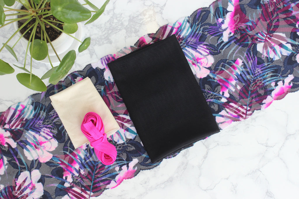 DIY Soft Bra Kit Navy Pink Hot Pink Multi Black