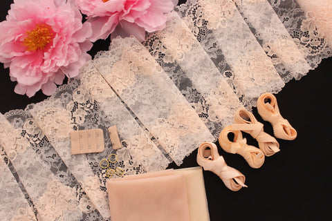 DIY Underwire Bra Kit Cream Peach Off-White