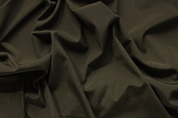 1/2 YD Olive Ribbed Swimwear Activewear Nylon Spandex Fabric