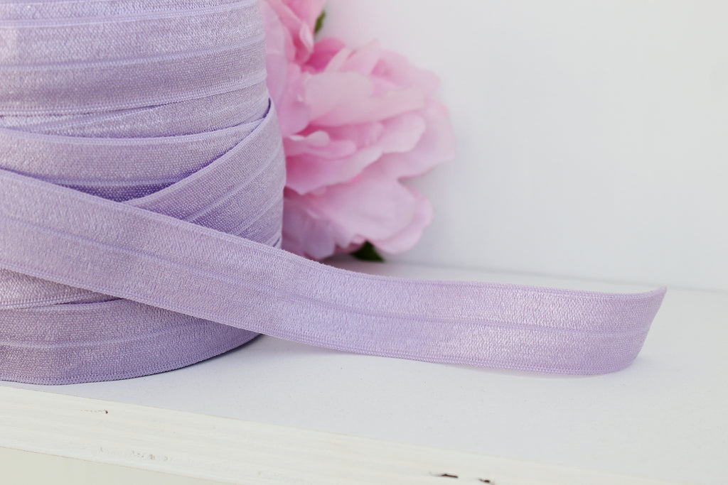 "1 YD of 3/4"" Lilac Orchid Fold Over Elastic Shiny Foldover Elastic FOE Underwear Making Lingerie Bra Making"
