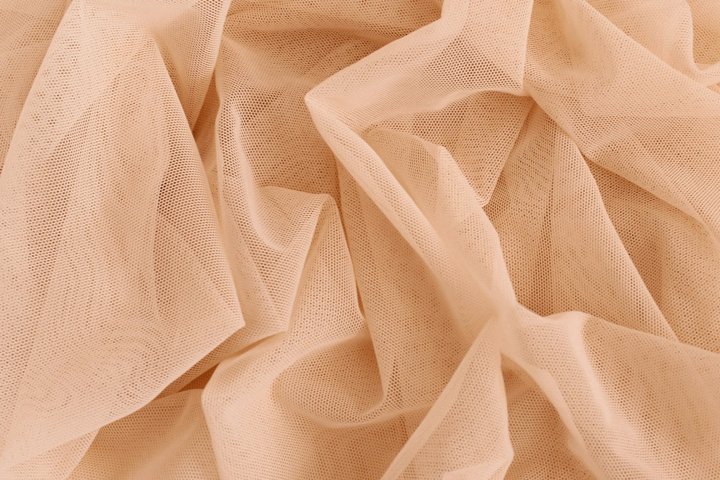 1/2 YD Osiana Peach Stretch Mesh