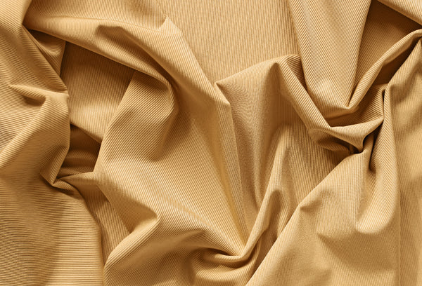 1/2 YD Pale Ochre Ribbed Swimwear Activewear Nylon Spandex Fabric