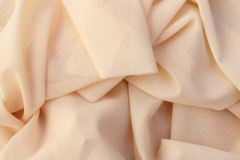 1/2 YD Peach Beige Power Net