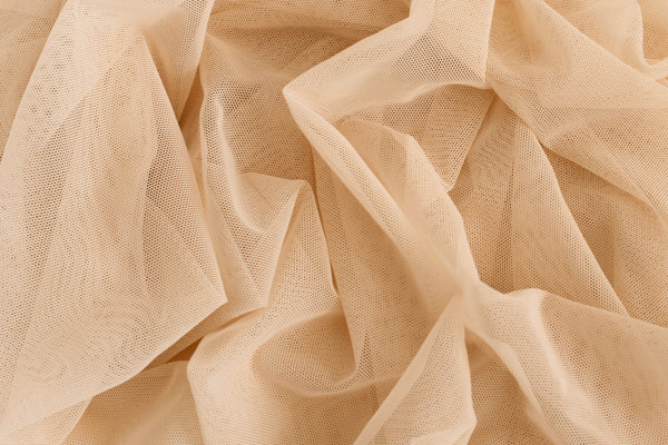 1/2 YD Peach Nude Stretch Mesh