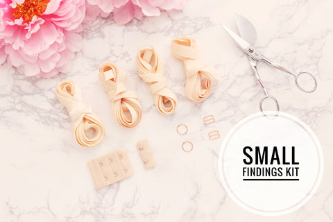 Small Bra Findings Kit - Peach - Perfect for an Underwired Bra