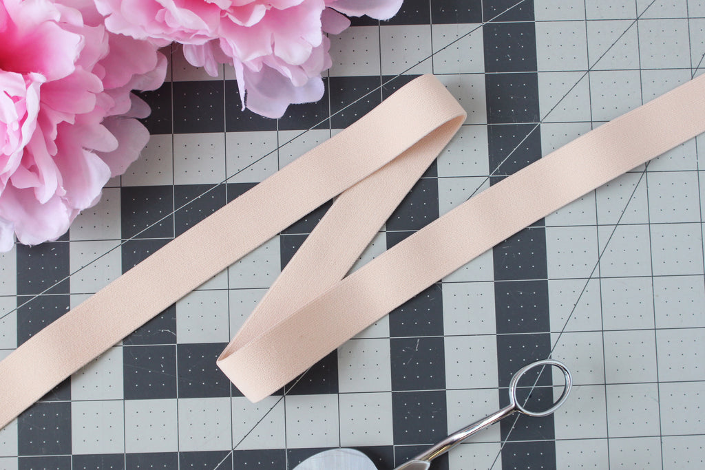 "1"" (25mm) Peach Plush Wide Elastic - Sold by the yard"