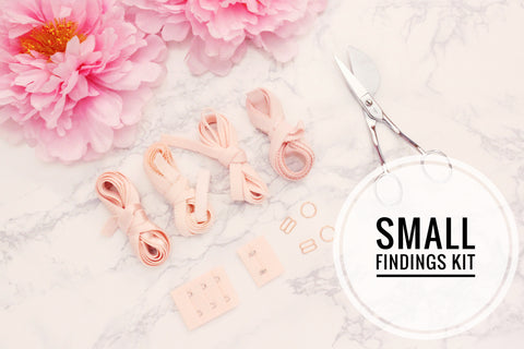 Small Bra Findings Kit - Pink Peach - Perfect for an Underwired Bra