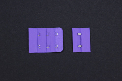 1 Set Purple Hook & Eye 2 Rows 1.5""