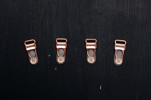 1 Set (4 Pcs) Rose Gold Metal Garter Clips Lingerie Making