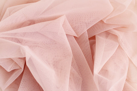 1/2 YD Rose Pink Stretch Mesh