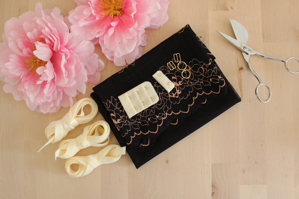 DIY Soft Bra Kit Black Rosegold Ivory