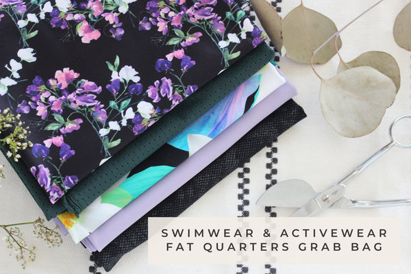 Swimwear & Activewear Fabric Fat Quarters Grab Bag Bundle