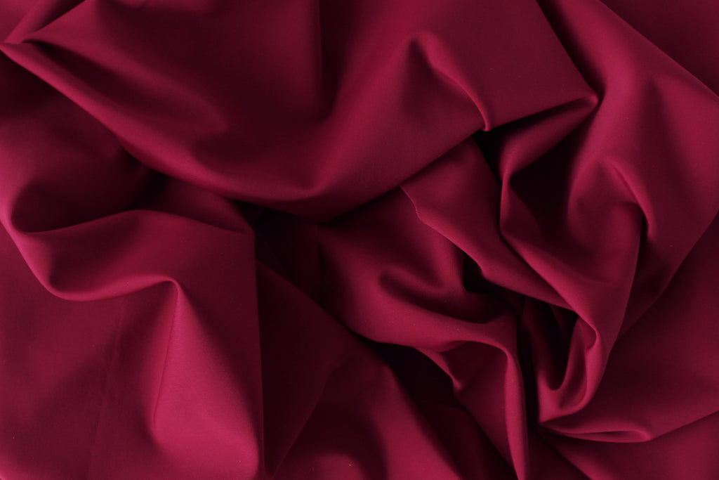 1/2 YD Wine Red Recycled Swimwear Activewear Nylon Spandex Sustainable Fabric