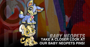 Take a Closer Look at Our Baby Neopets Pins!