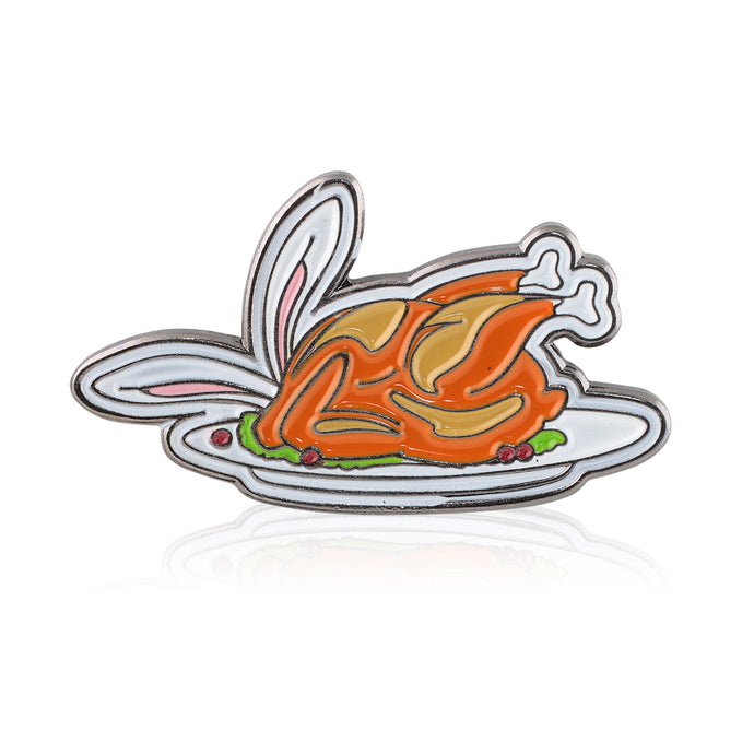 Feeder Bronze Bunny Pin