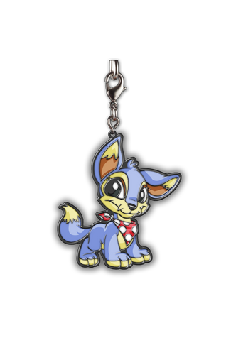 Neopets Baby Lupe Enamel Keychain