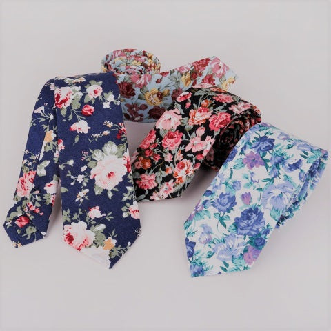 Collection of men's floral ties accessories