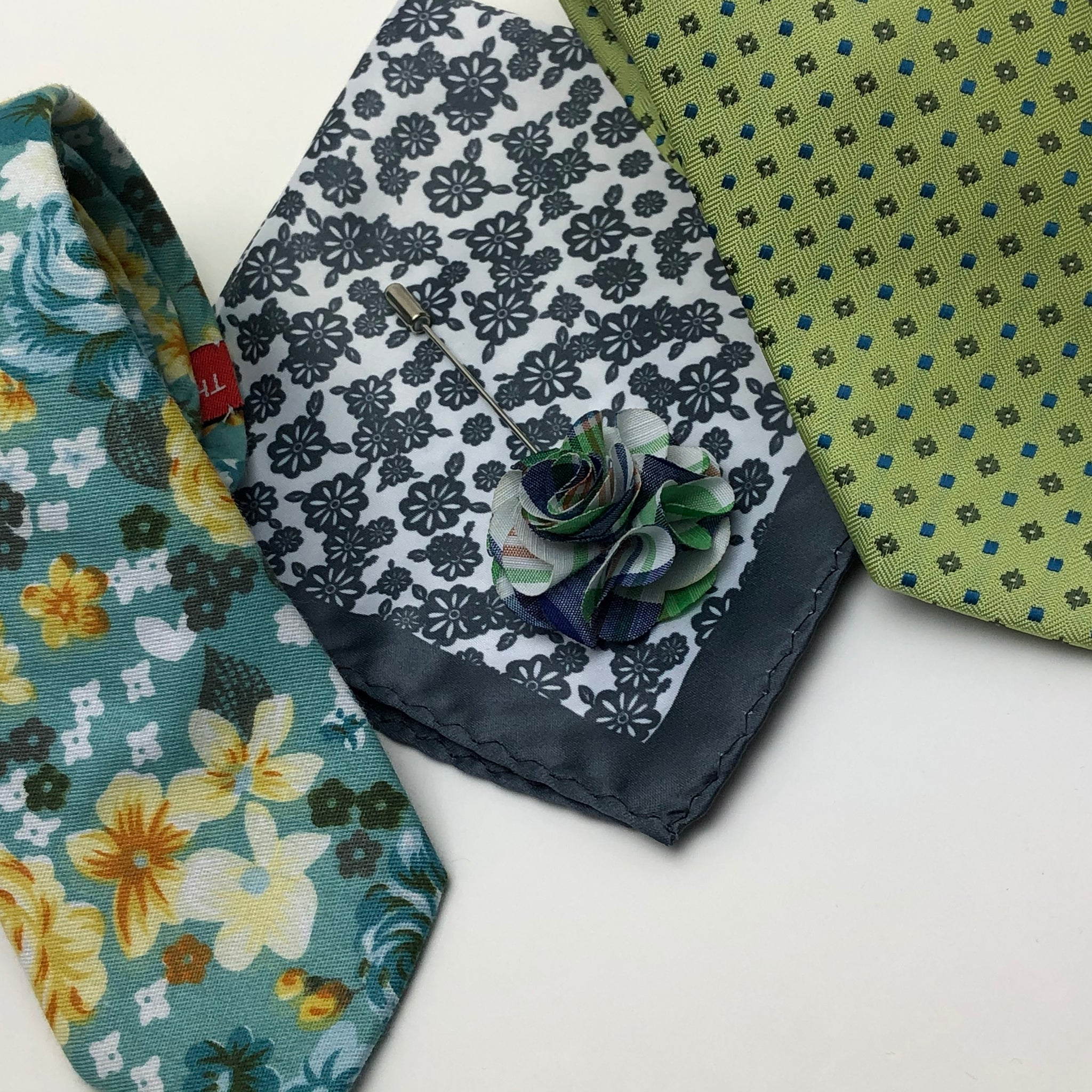 Men's Accessories- Tie, Bow-Tie, Lapel Pin, Pocket Square, Fashion