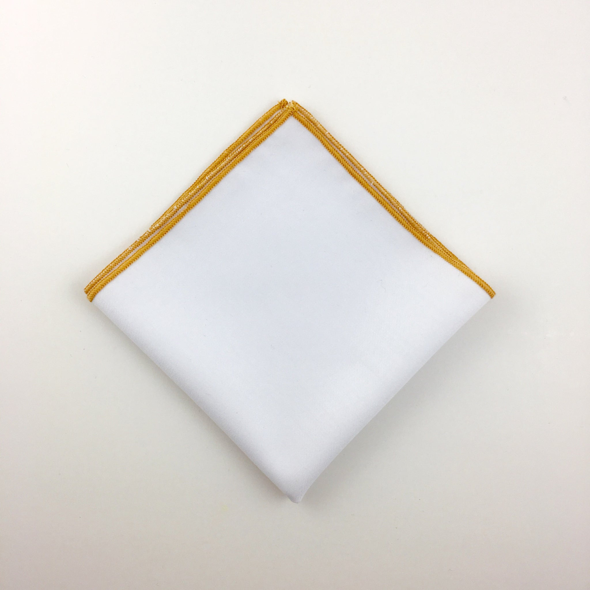 The-Dirty-Collar- Milan Collection- Men's White Pocket Squares- Men's Accessories