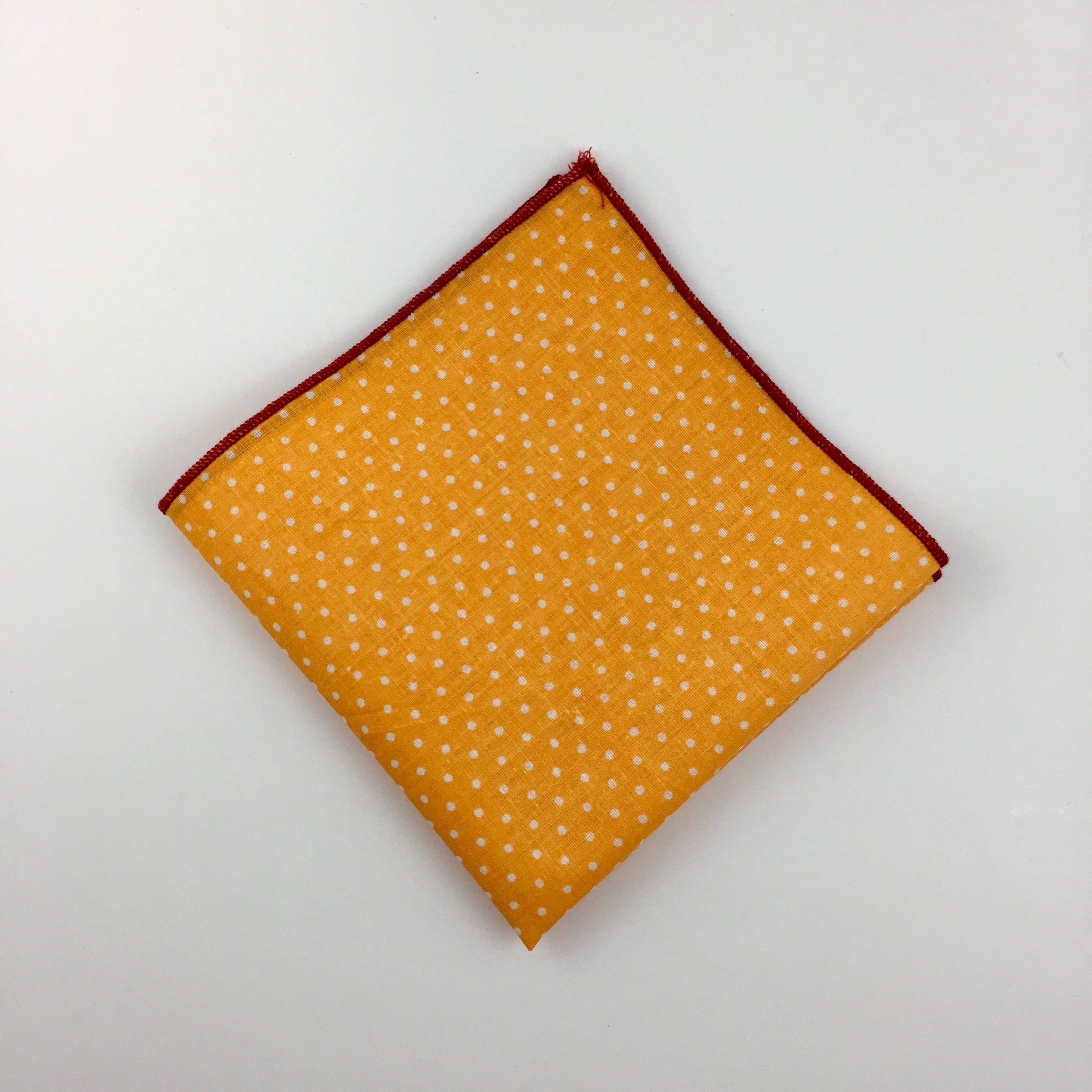 The-Dirty-Collar- Rios Collection- Orange Men's Pocket Squares- Men's Accessories