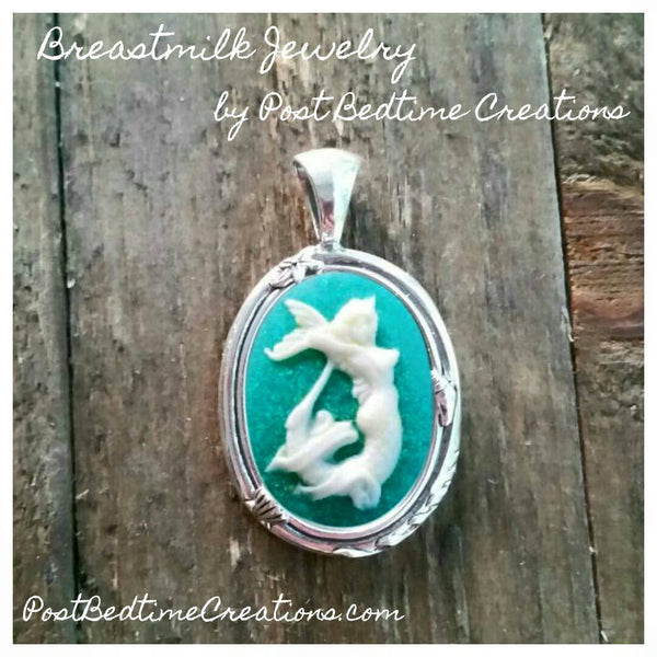 Mermaid Cameo Pendant