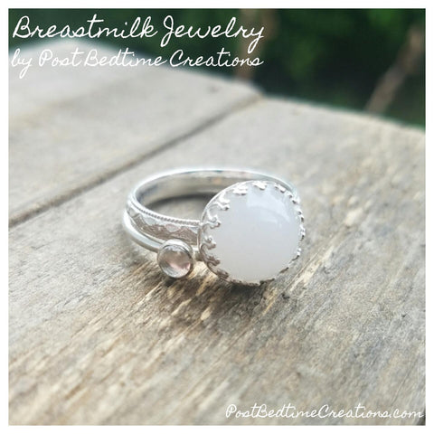 Stackable birthstone ring add on
