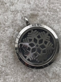 Stainless steel snowflake locket pendant