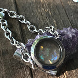 Filled locket bracelet