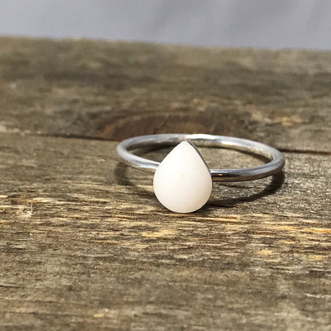 Sterling drop ring