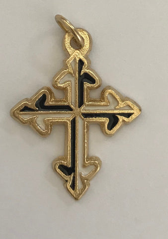 Cross, small, gold 1inch