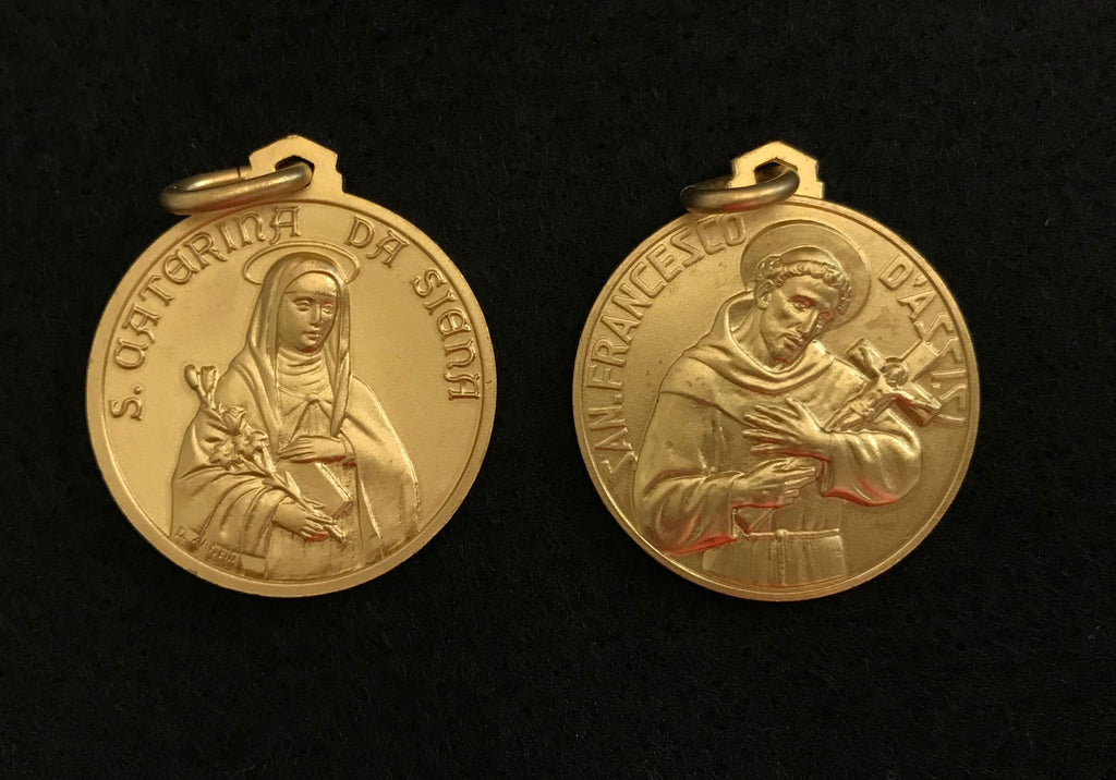 Medal St Catherine and St Francis