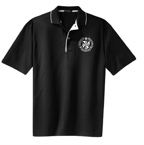 Polo shirt Black with White trim