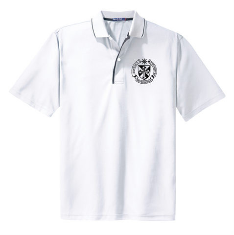 Polo Shirt White with Black trim