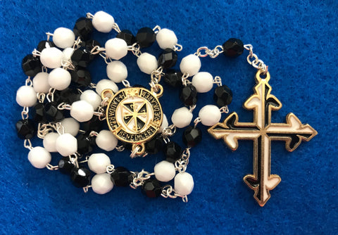 Rosary with Dom cross and logo