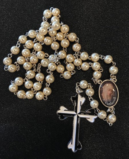 Rosary, Bisque Pearl, St Catherine