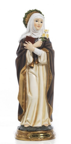 Statue: St Catherine of Siena/Crown of Thorns
