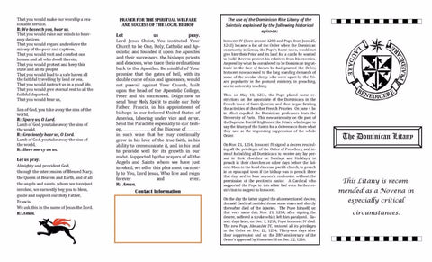 Brochures - Dominican Litany and Laity