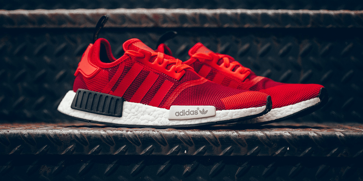 Adidas NMD R1 Red Colorway Shoe Laces