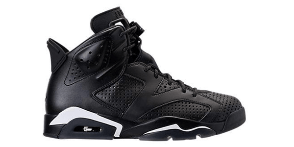 Air Jordan Retro 6 Basketball Shoes in the Black and White Colorway
