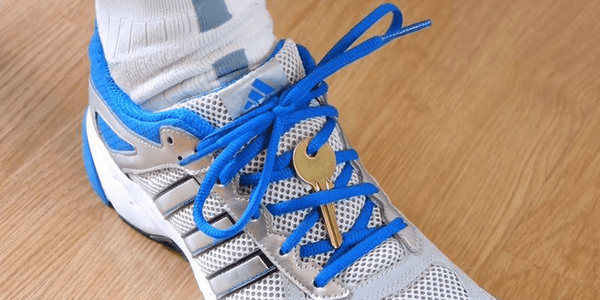 Secure Your House Key In Your Shoelaces For Running