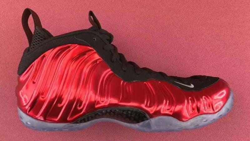 007edc85a3ee2 Accent Your Metallic Red Nike Air Foamposite Ones With Our Colored Shoelaces