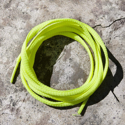 Oval Shoe Laces (Neon Yellow )